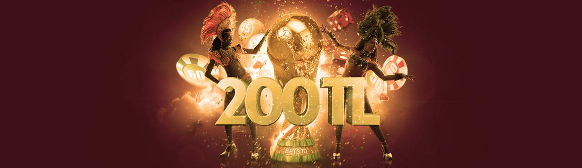 Bets10 200 TL Dünya Kupası Bonusu!