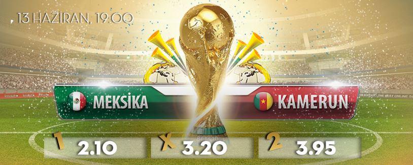 Meksika- Kamerun Maçında En yüksek Oran Bets10 da