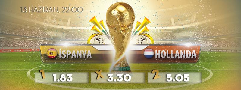 İspanya – Hollanda Dünya Kupası Maçı Bets10 Oranları