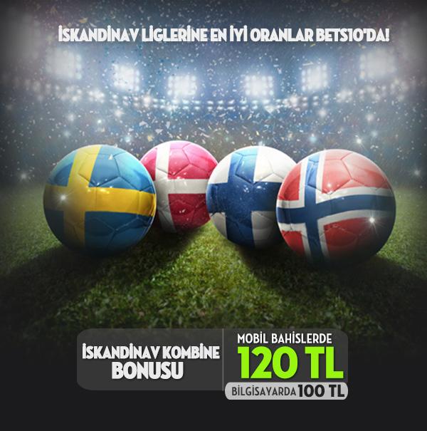 Bets10 dan 120 TL İskandinav Kombine Bonusu