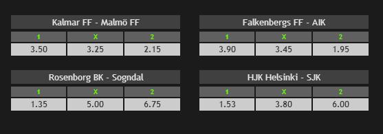 Danimarka Superliga, İsveç Allsvenskan, Norveç Tippeligaen ve Finlandiya Veikkausliga