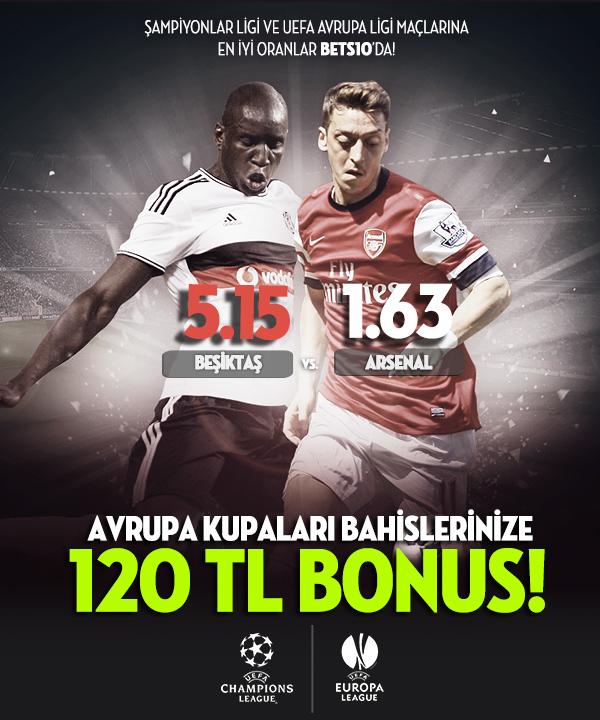 bets10 uefa avrupa ligi ve şampiyonlar ligine 120 tl bonus