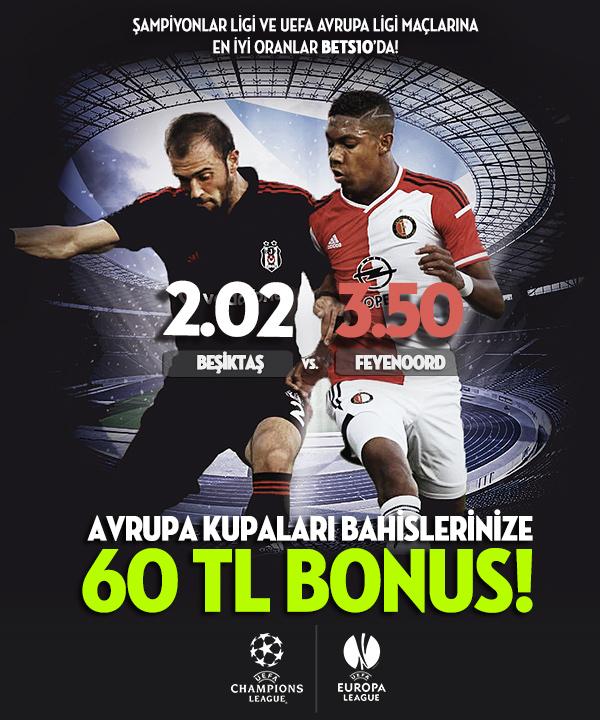 bonus kampanyası: bets10 ile 60 TL avrupa kupaları bonusu.