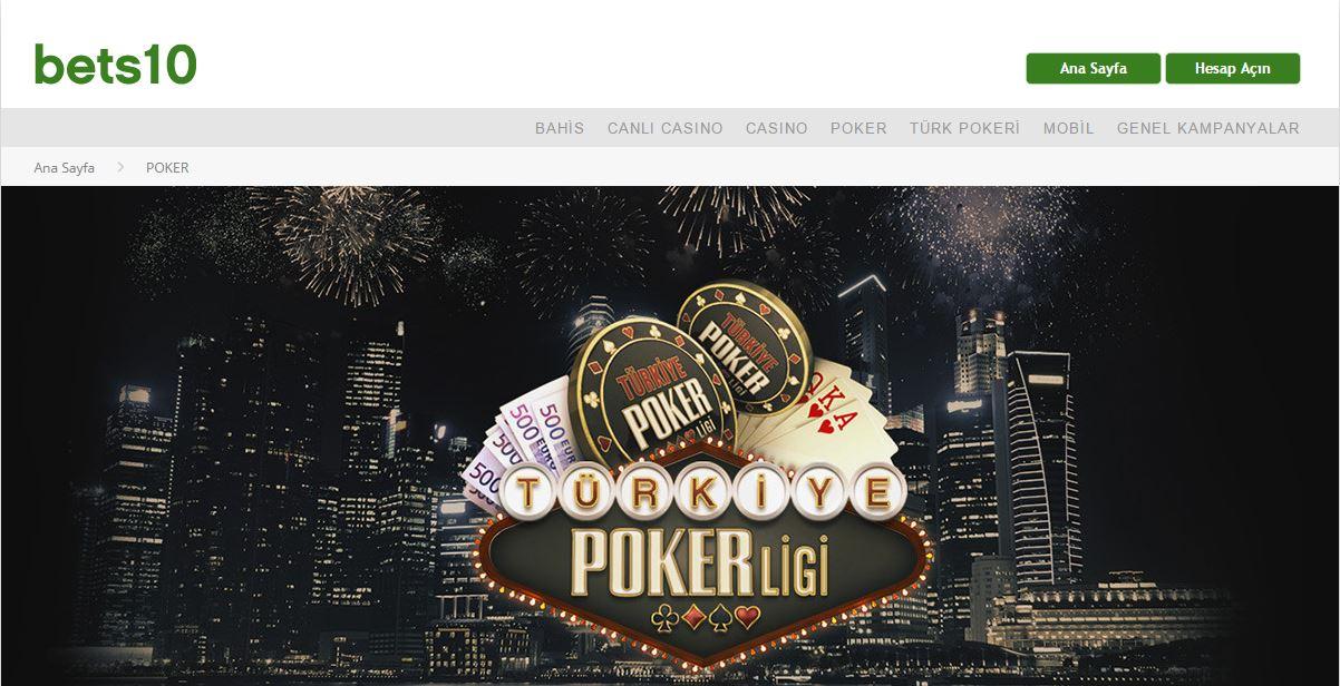 Bets10 Türkiye poker ligi