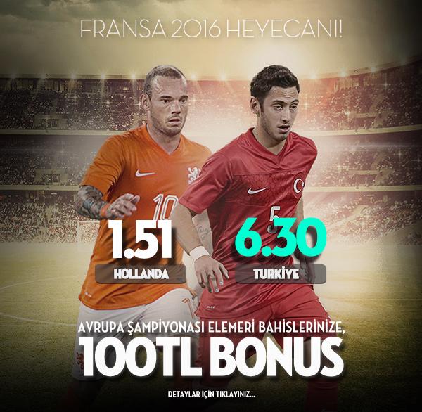 Avrupa Şampiyonası Euro 2016 Bonusu -  Bets10