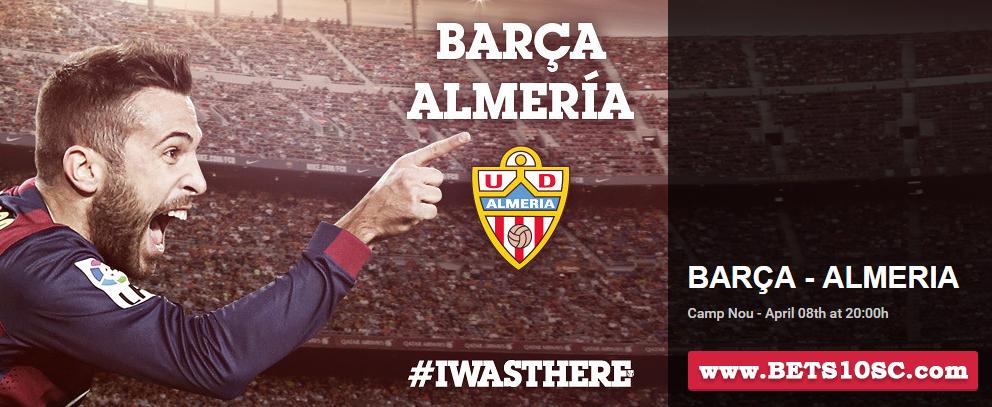 Barcelona - Almeria Bets10 Oranları