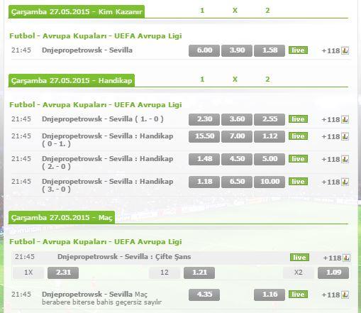 Futbol - Avrupa Kupaları - UEFA Avrupa Ligi  Dnjepropetrowsk - Sevilla