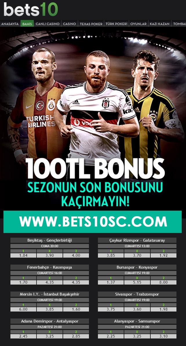 Bets10 dan Türkiye Süper Lig Sezonu Son Bonus