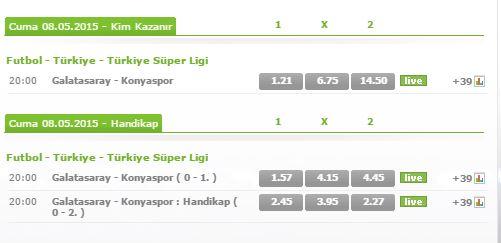 Galatasaray - Konyaspor Maçı Bets10 Bahis Oranları