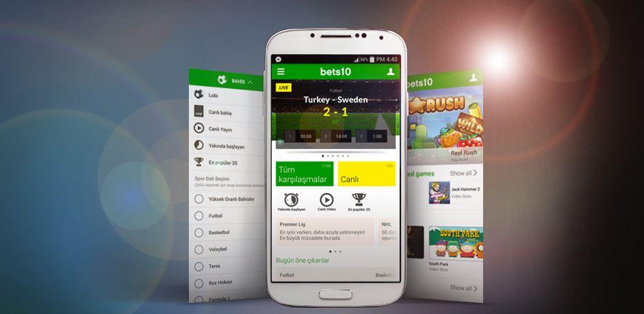 Bets10 mobil android uygulaması hakkında