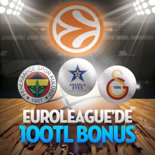 Bets10da Euroleague Bahislerine 100 TL Bonus