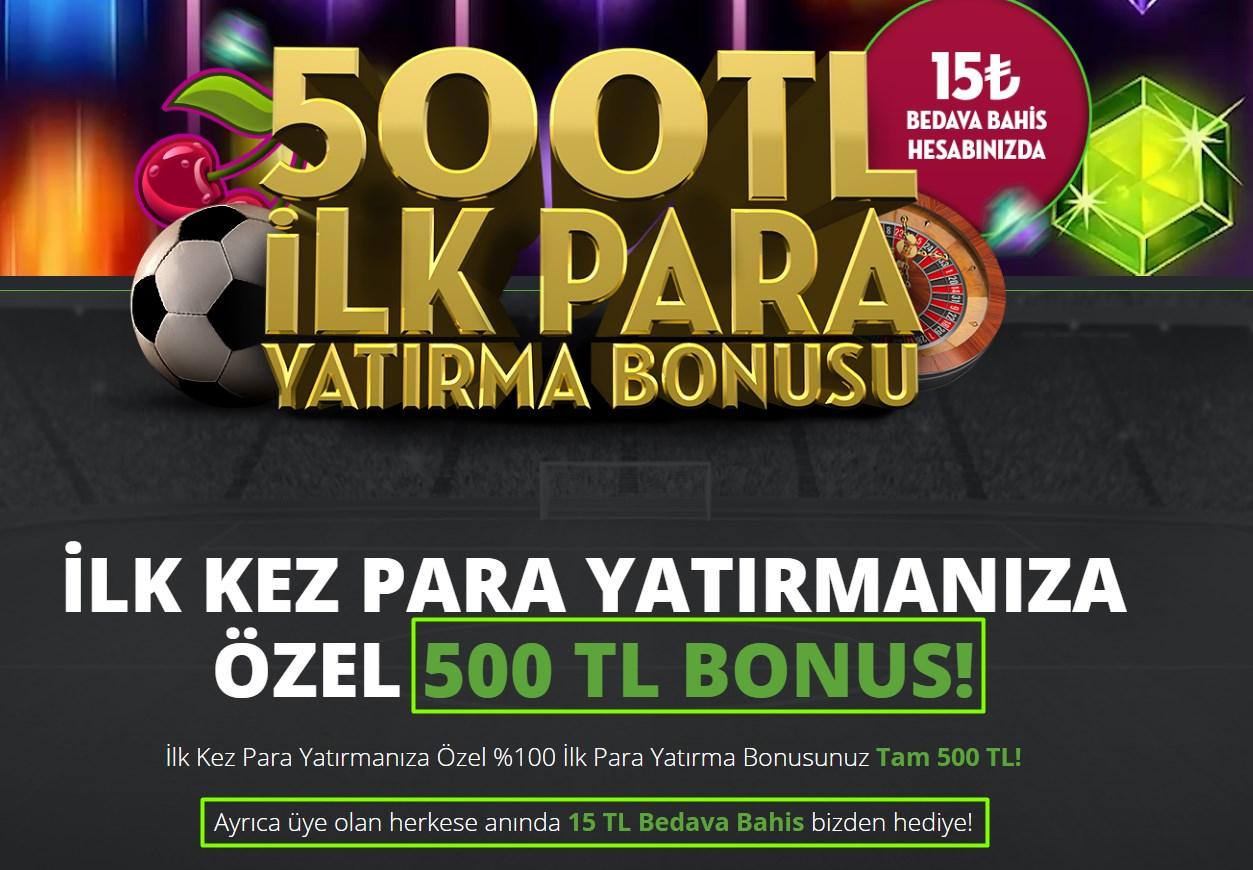 Bets10 Bonus : 15 TL bedava Bahis 500 TL Bonus