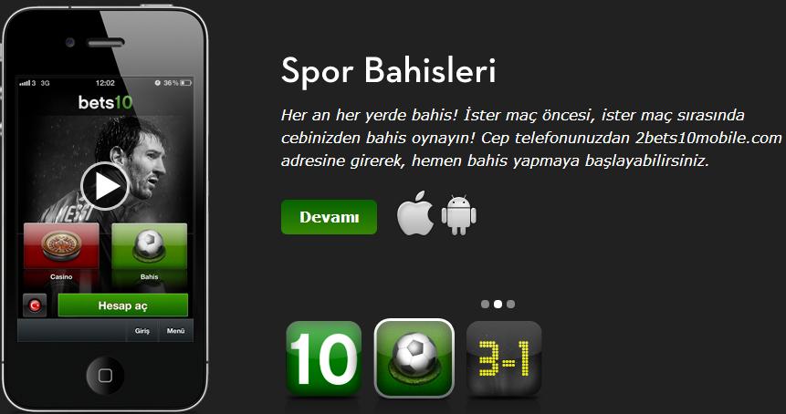 Bets10 iphone Uygulaması İndir ve Yükle