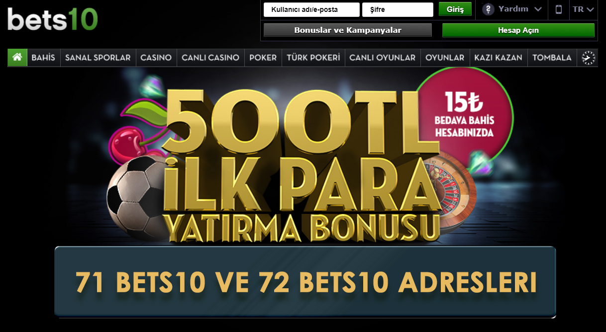 71 Bets10 ve 72 Bets10
